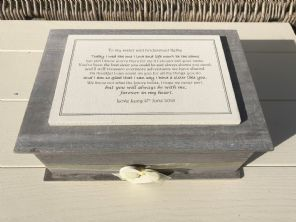 Shabby Chic LARGE Rustic Box Sister who is Bridesmaid personalised Gift Wedding - 232700031547